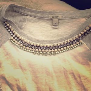 J Cree jeweled baseball tee